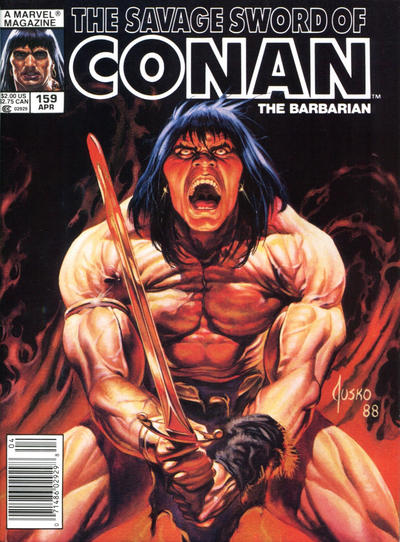 Cover for The Savage Sword of Conan (Marvel, 1974 series) #159