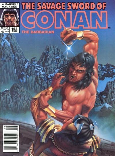 Cover for The Savage Sword of Conan (Marvel, 1974 series) #163
