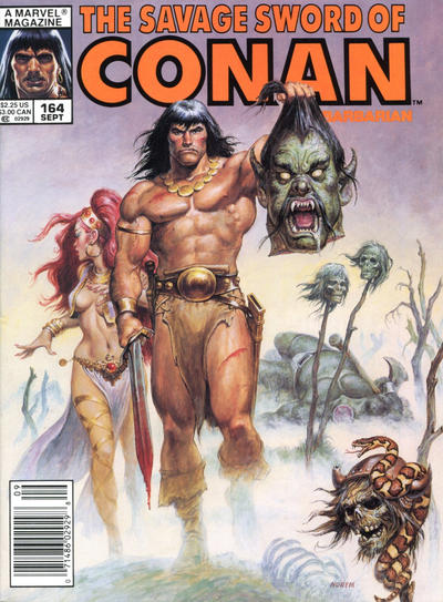 Cover for The Savage Sword of Conan (Marvel, 1974 series) #164