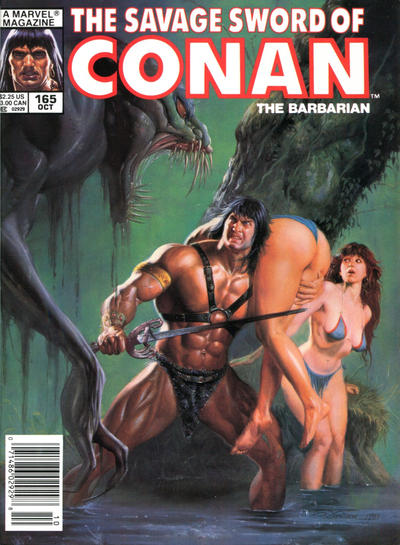 Cover for The Savage Sword of Conan (Marvel, 1974 series) #165
