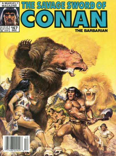 Cover for The Savage Sword of Conan (Marvel, 1974 series) #167