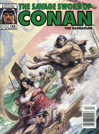 Cover for The Savage Sword of Conan (Marvel, 1974 series) #168