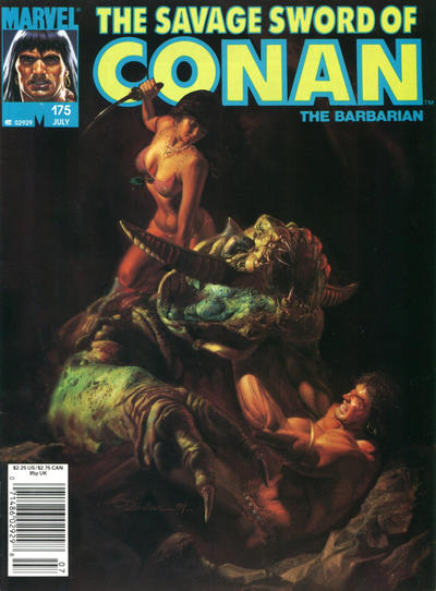 Cover for The Savage Sword of Conan (Marvel, 1974 series) #175