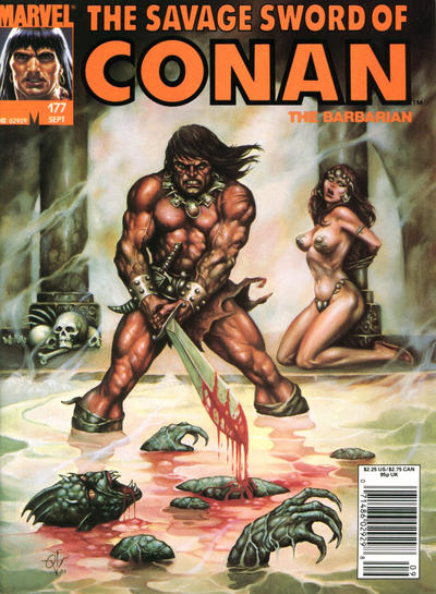 Cover for The Savage Sword of Conan (Marvel, 1974 series) #177