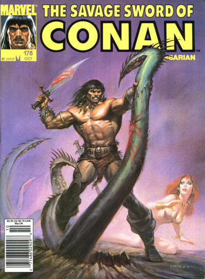 Cover for The Savage Sword of Conan (Marvel, 1974 series) #178