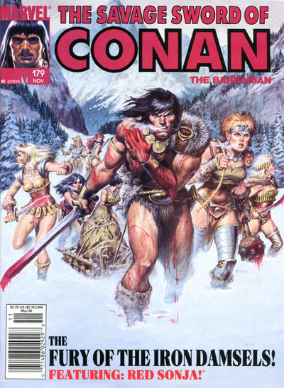 Cover for The Savage Sword of Conan (Marvel, 1974 series) #179