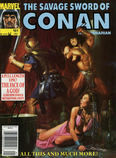 Cover for The Savage Sword of Conan (Marvel, 1974 series) #181