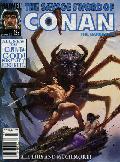 Cover for The Savage Sword of Conan (Marvel, 1974 series) #183