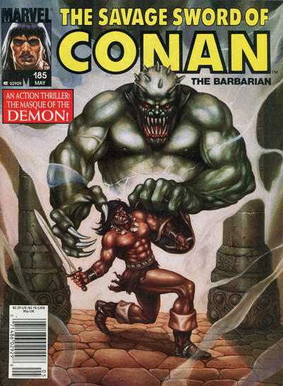 Cover for The Savage Sword of Conan (Marvel, 1974 series) #185