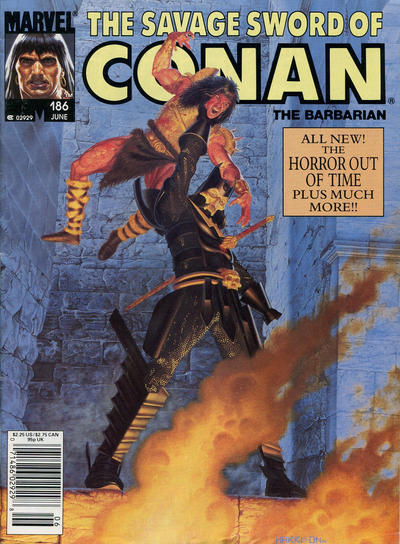 Cover for The Savage Sword of Conan (Marvel, 1974 series) #186