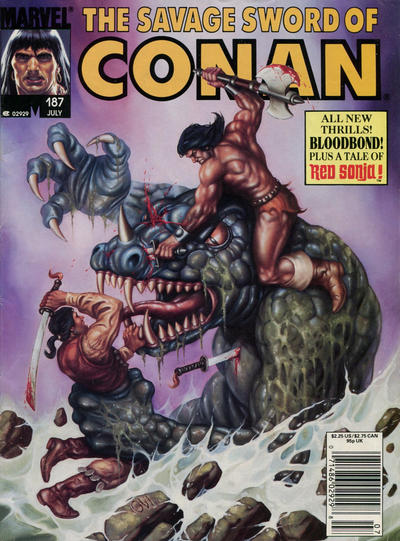 Cover for The Savage Sword of Conan (Marvel, 1974 series) #187