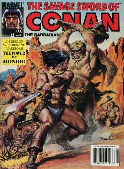 Cover for The Savage Sword of Conan (Marvel, 1974 series) #188