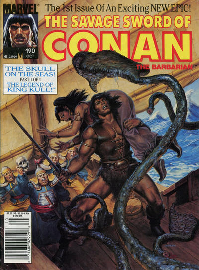 Cover for The Savage Sword of Conan (Marvel, 1974 series) #190