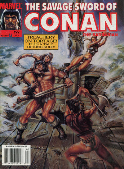 Cover for The Savage Sword of Conan (Marvel, 1974 series) #199