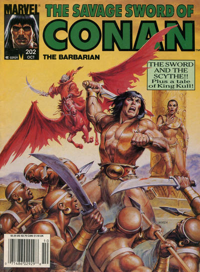 Cover for The Savage Sword of Conan (Marvel, 1974 series) #202