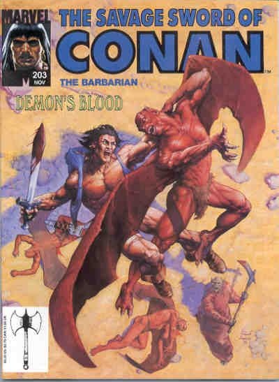 Cover for The Savage Sword of Conan (Marvel, 1974 series) #203