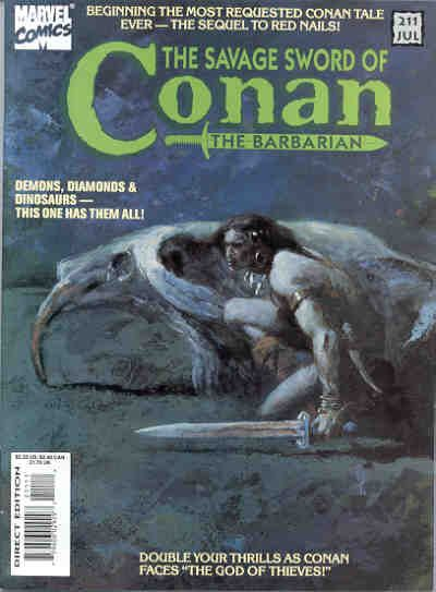 Cover for The Savage Sword of Conan (Marvel, 1974 series) #211