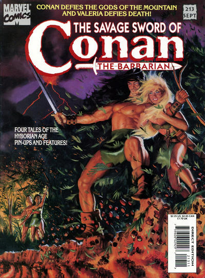 Cover for The Savage Sword of Conan (Marvel, 1974 series) #213