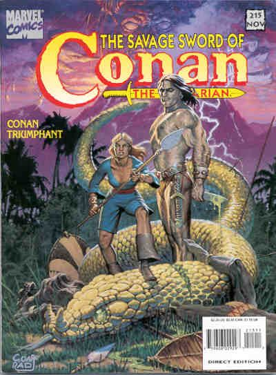 Cover for The Savage Sword of Conan (Marvel, 1974 series) #215