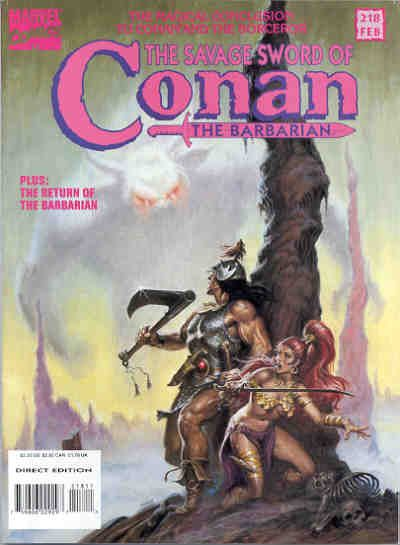 Cover for The Savage Sword of Conan (Marvel, 1974 series) #218