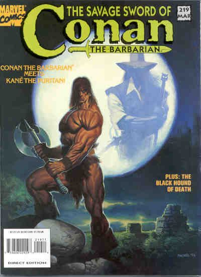 Cover for The Savage Sword of Conan (Marvel, 1974 series) #219