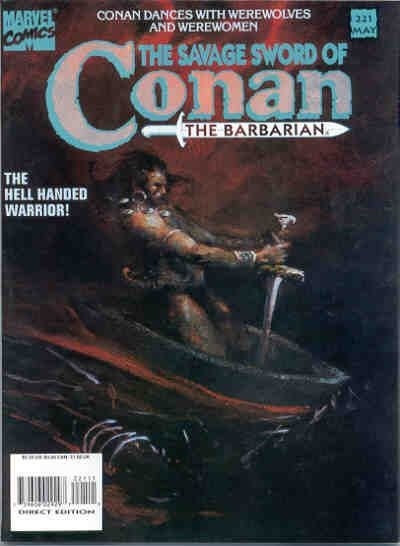 Cover for The Savage Sword of Conan (Marvel, 1974 series) #221