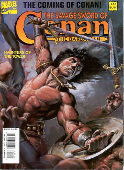 Cover for The Savage Sword of Conan (Marvel, 1974 series) #222