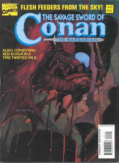 Cover for The Savage Sword of Conan (Marvel, 1974 series) #223