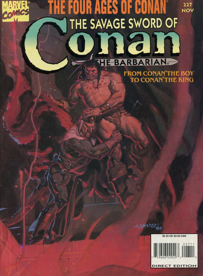 Cover for The Savage Sword of Conan (Marvel, 1974 series) #227