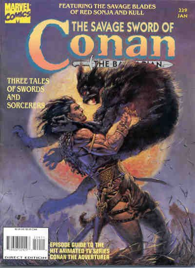 Cover for The Savage Sword of Conan (Marvel, 1974 series) #229