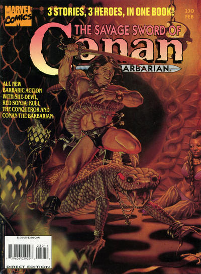 Cover for The Savage Sword of Conan (Marvel, 1974 series) #230