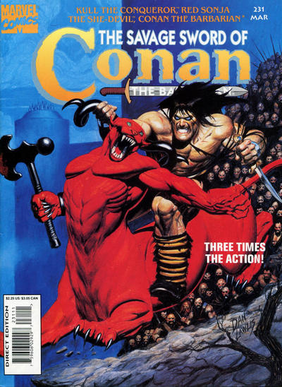 Cover for The Savage Sword of Conan (Marvel, 1974 series) #231