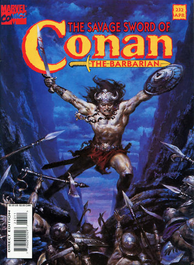 Cover for The Savage Sword of Conan (Marvel, 1974 series) #232