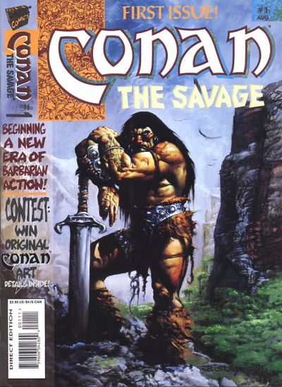 Cover for Conan the Savage (Marvel, 1995 series) #1