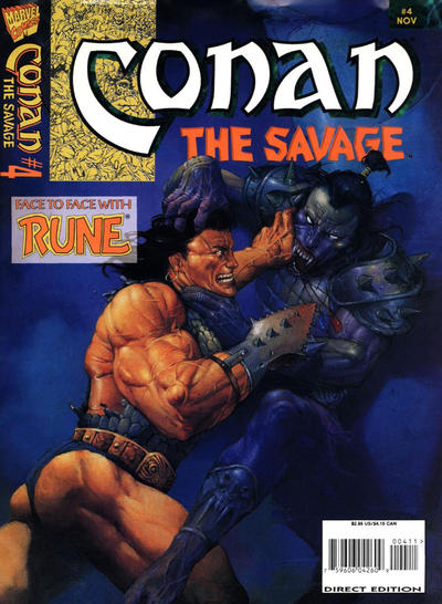 Cover for Conan the Savage (Marvel, 1995 series) #4