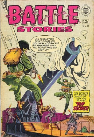 Cover for Battle Stories (I. W. Publishing; Super Comics, 1963 series) #11
