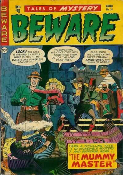 Cover for Beware (Trojan Magazines, 1953 series) #14