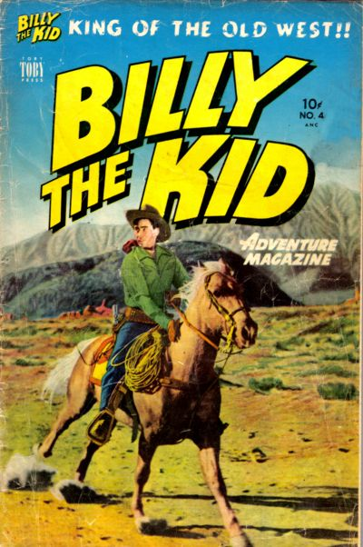Cover for Billy the Kid Adventure Magazine (Toby, 1950 series) #4