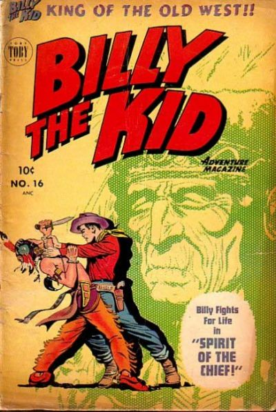 Cover for Billy the Kid Adventure Magazine (Toby, 1950 series) #16