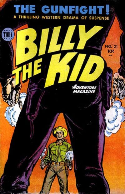 Cover for Billy the Kid Adventure Magazine (Toby, 1950 series) #21