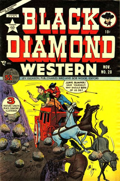 Cover for Black Diamond Western (Lev Gleason, 1949 series) #28