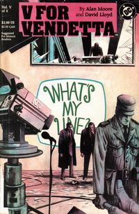 Cover Thumbnail for V for Vendetta (DC, 1988 series) #5