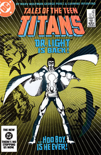 Cover for Tales of the Teen Titans (DC, 1984 series) #49 [Newsstand]
