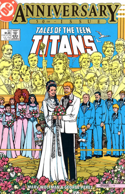 Cover for Tales of the Teen Titans (DC, 1984 series) #50 [Direct]