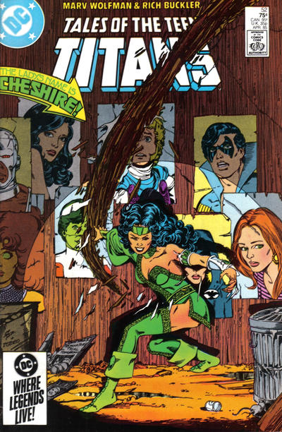 Cover for Tales of the Teen Titans (DC, 1984 series) #52 [Newsstand]