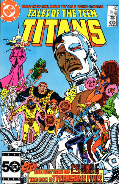 Cover for Tales of the Teen Titans (DC, 1984 series) #58 [Direct Sales]