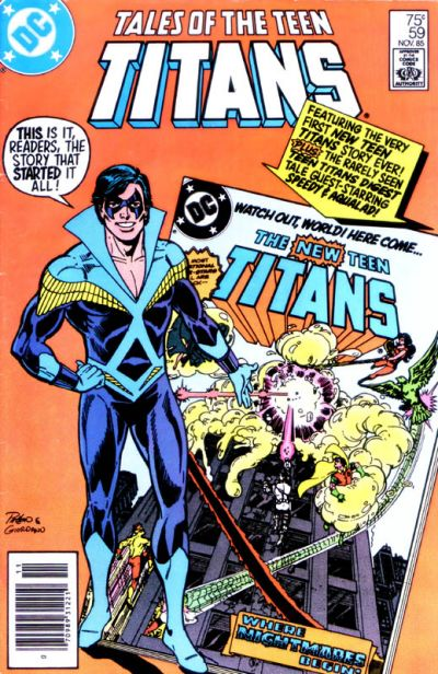 Cover for Tales of the Teen Titans (DC, 1984 series) #59 [Direct Sales]