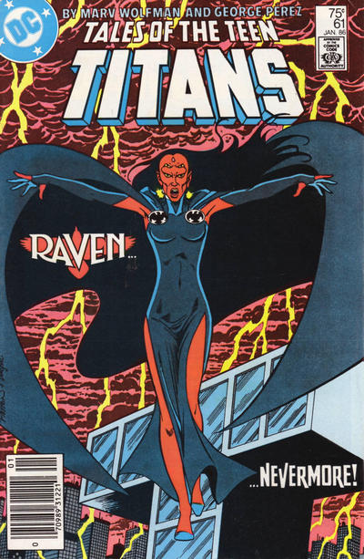 Cover for Tales of the Teen Titans (DC, 1984 series) #61
