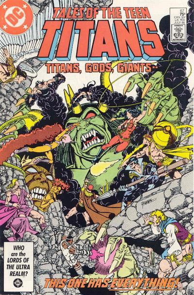 Cover for Tales of the Teen Titans (DC, 1984 series) #67 [Newsstand Edition]