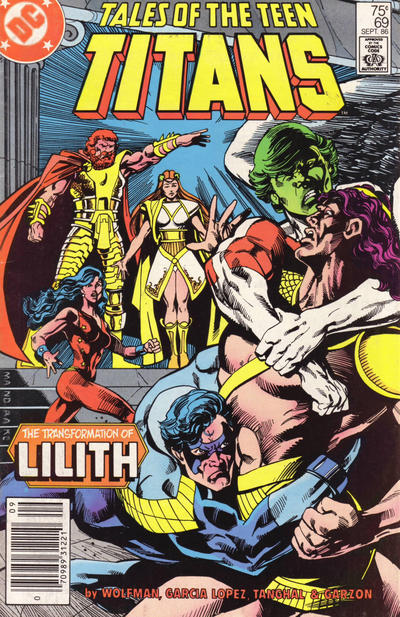 Cover for Tales of the Teen Titans (DC, 1984 series) #69 [Newsstand]